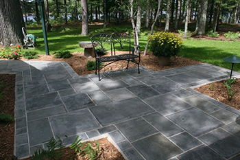 Blue Flagstone Patio Installation Marietta GA